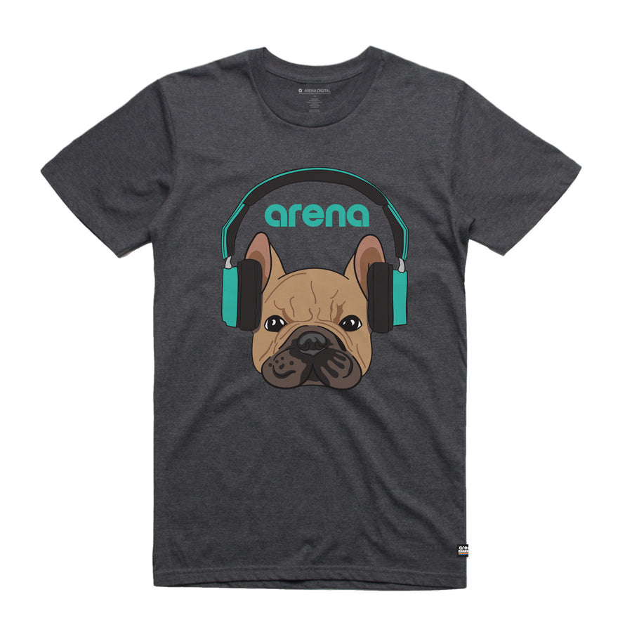 Dog-Eared Asphalt Heather Unisex Tee Shirt