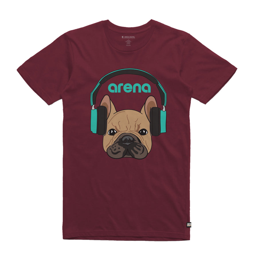 Dog-Eared Burgundy Unisex Tee Shirt