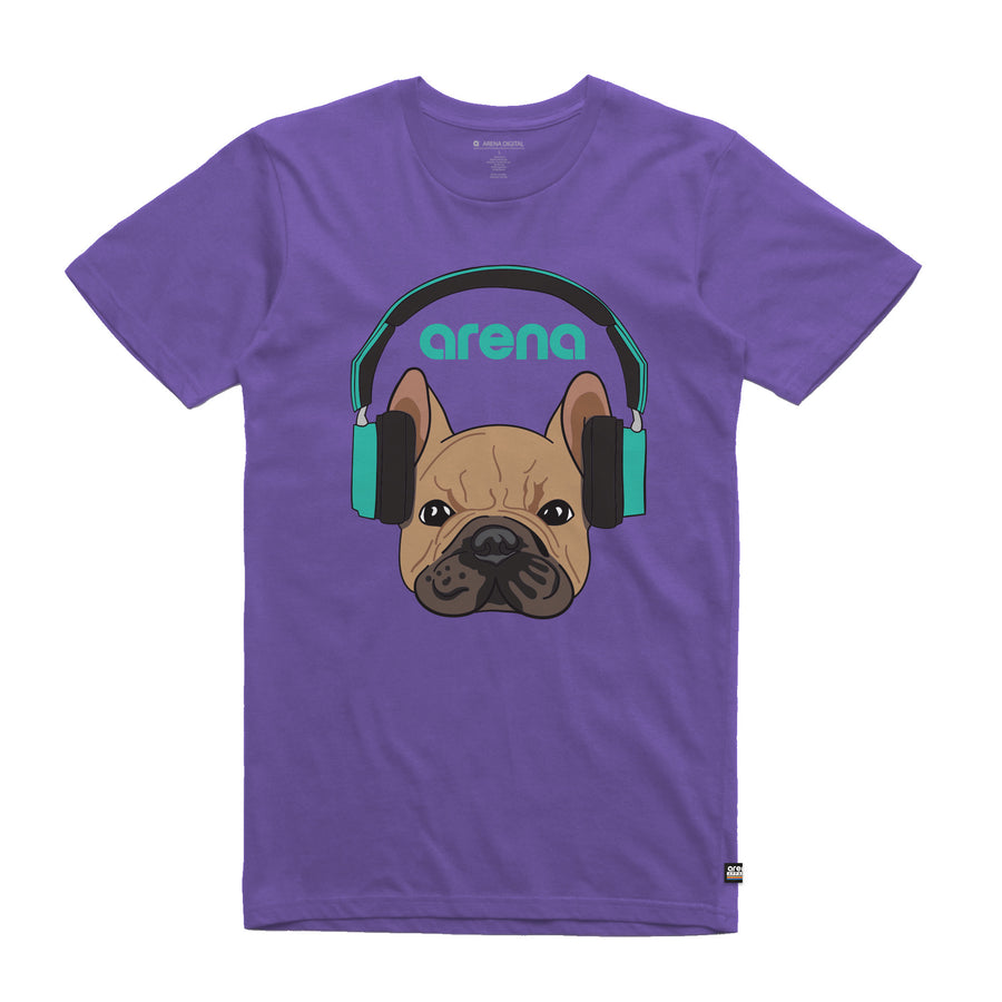 Dog-Eared Purple Unisex Tee Shirt