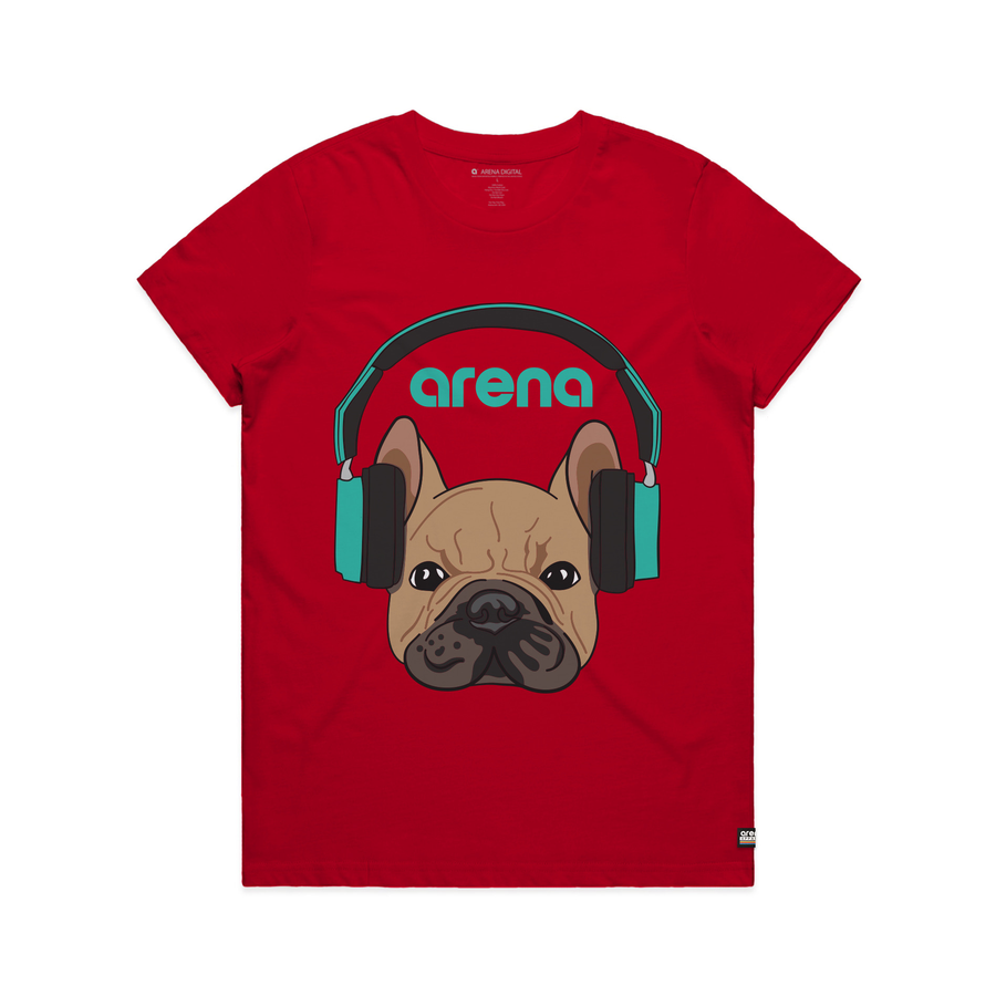 Dog-Eared Red Women's Tee Shirt
