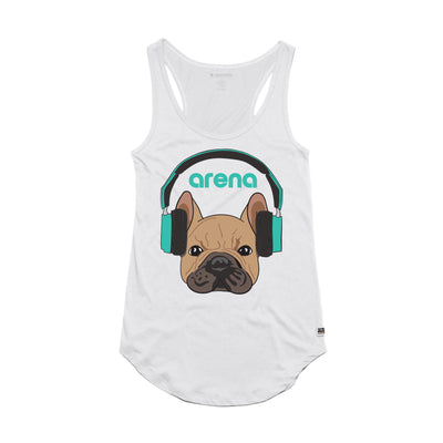 Dog-Eared White Women's Tank Top
