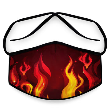 Inferno- Arena Tour Mask (Includes 1 PM2.5 Carbon Filter) Reversible Face Mask
