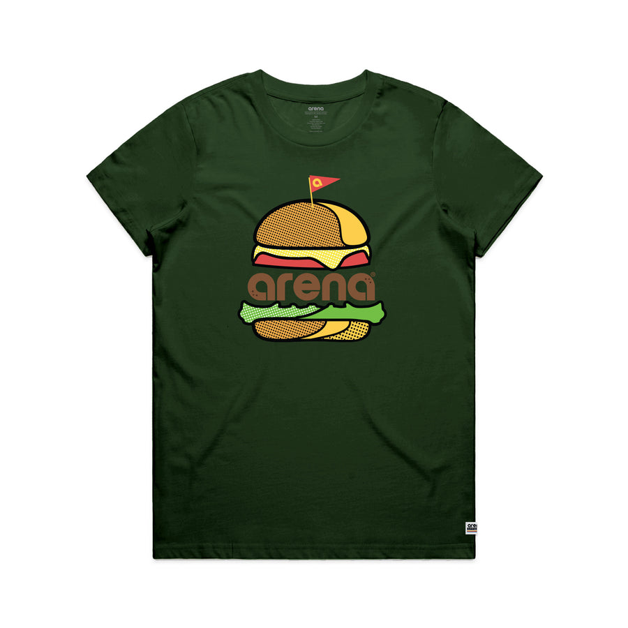 Grade A Women's Tee Shirt Forest Green