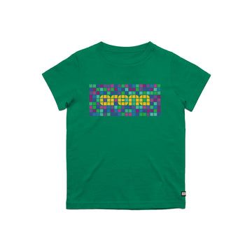 Green Pixel Kid's Tee