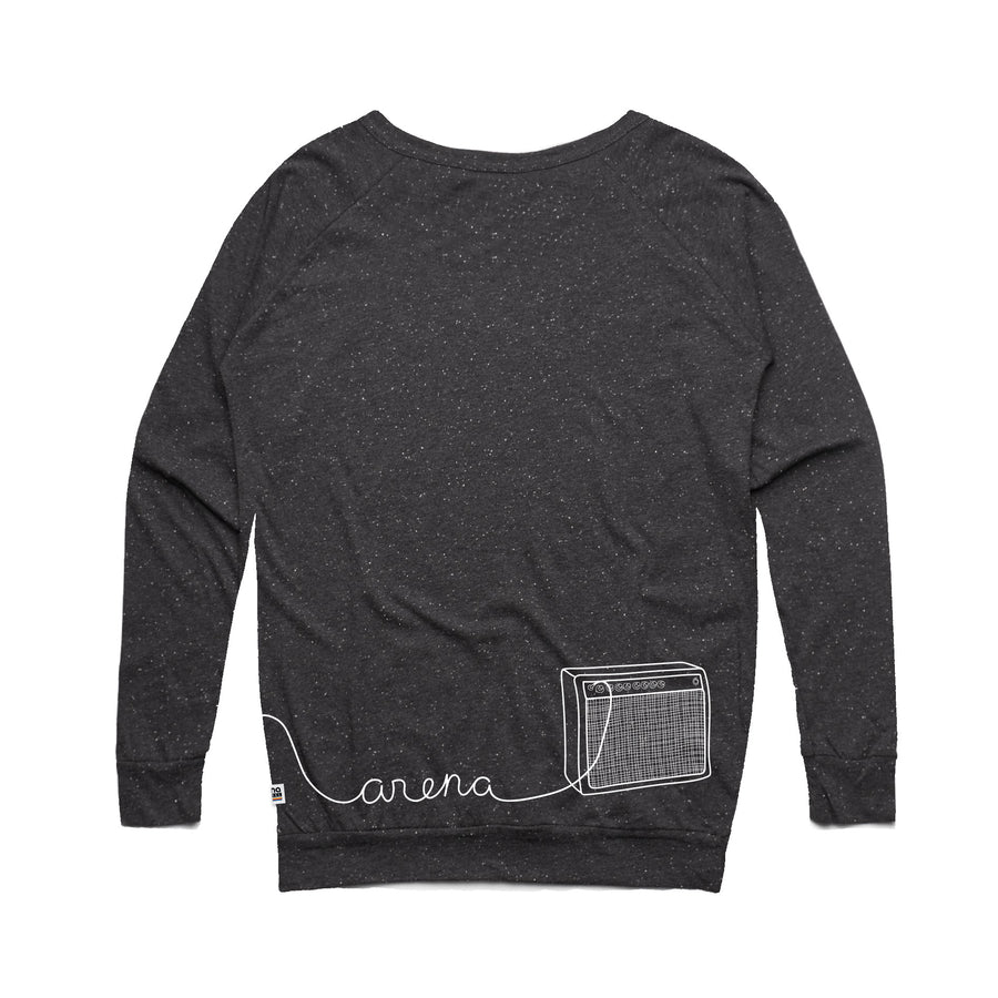 Guitar Asphalt Heather Women's Sweatshirt Back