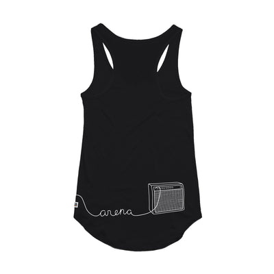 Guitar Black Women's Tank Top Back