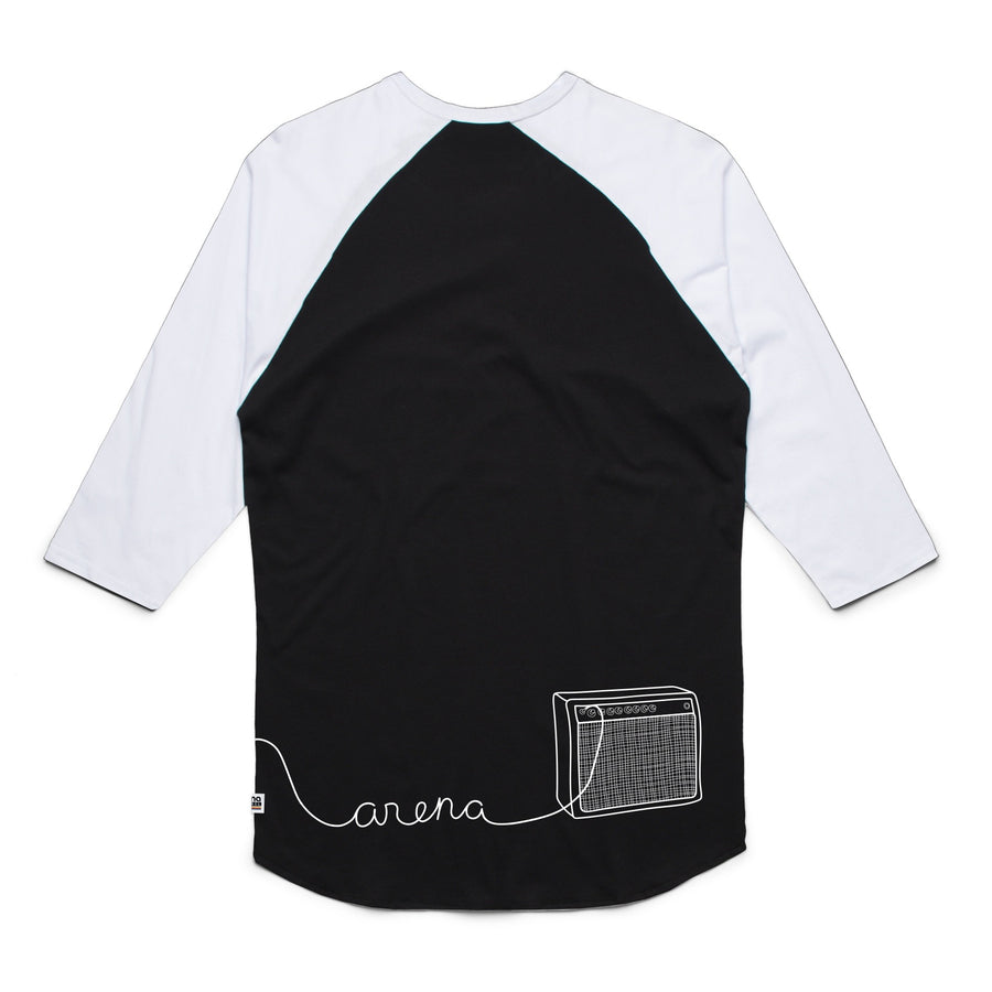 Guitar Black and White Raglan Back