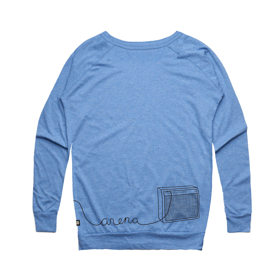 Guitar Blue Women's Sweatshirt Back