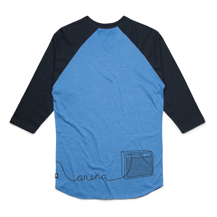Guitar Blue and Navy Raglan Back