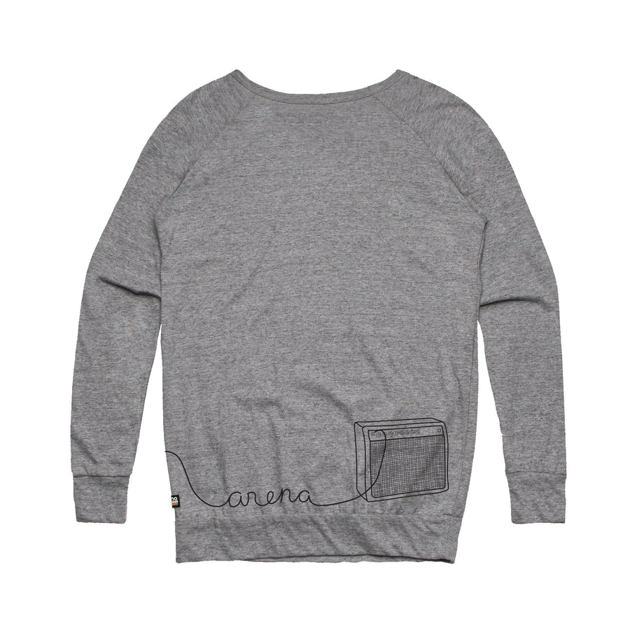 Guitar Heather Grey Women's Sweatshirt Back