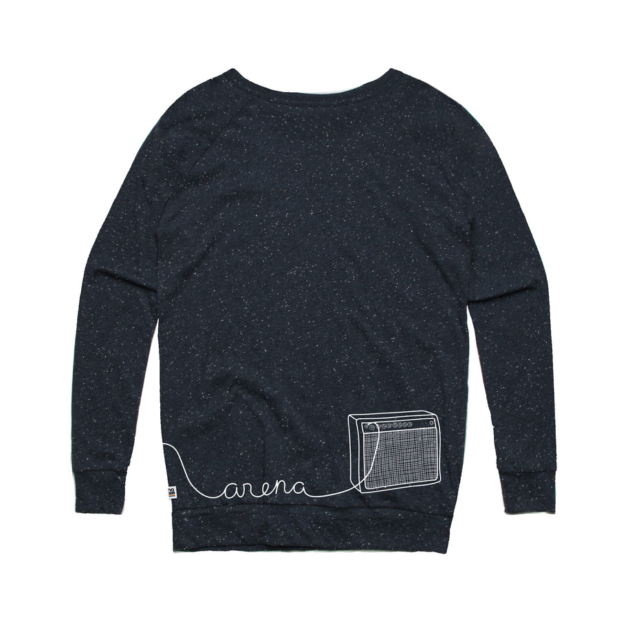 Guitar Navy Women's Sweatshirt Back
