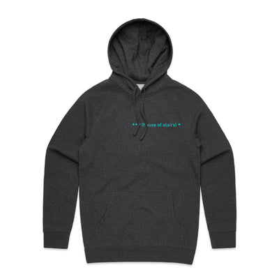 House of Stairs Geometric Asphalt Heather Unisex Pullover Hoodie Front