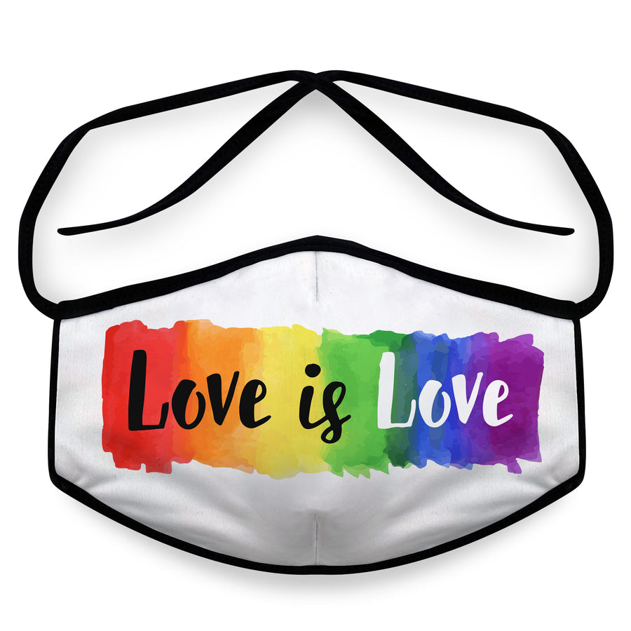 Love is Love- Arena Tour Mask (Includes 1 PM2.5 Carbon Filter) Reversible Face Mask