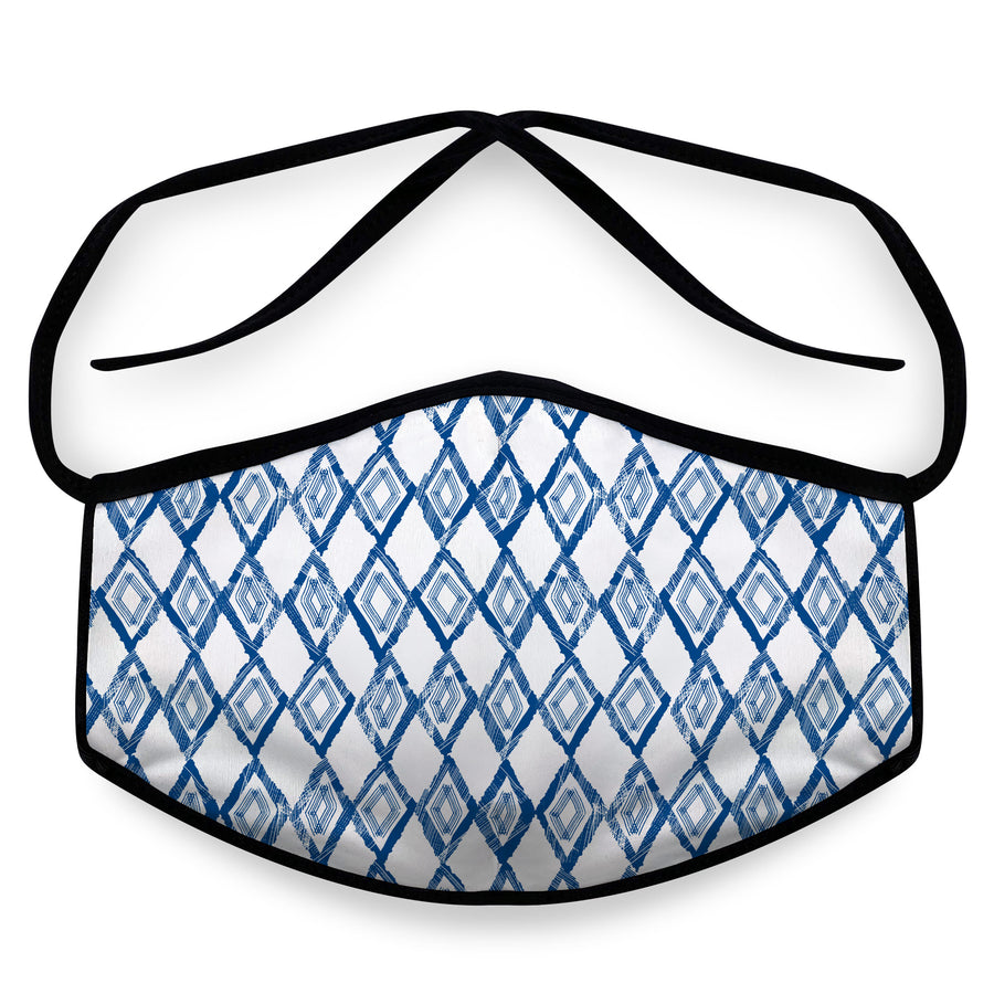 Blue Diamond- Reusable Face Mask, Face Cover, Festival Cover | Arena
