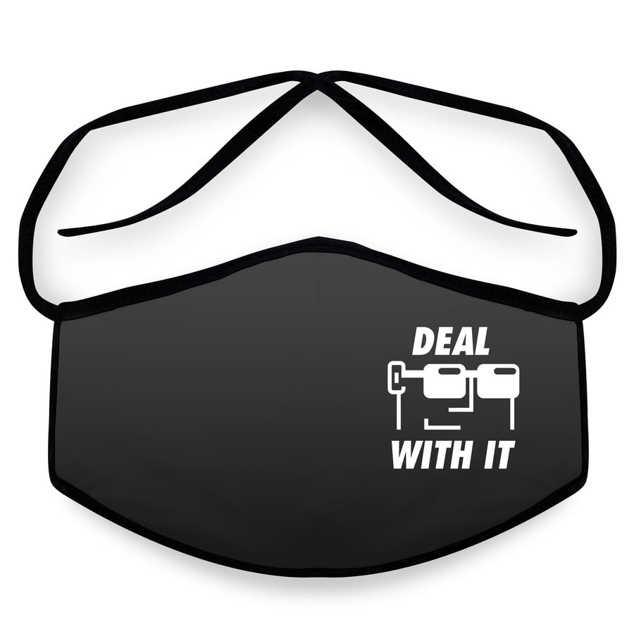 Deal With It - Reusable Face Mask, Face Cover, Festival Cover | Arena - Band Merch and On-Demand Designer Shirts