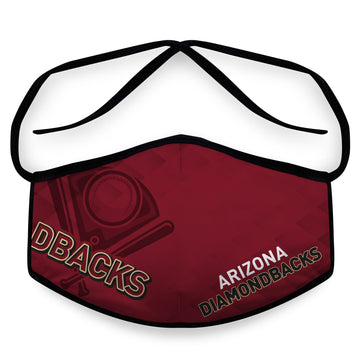 Diamondbacks- Arena Tour Mask (Includes 1 PM2.5 Carbon Filter) Reversible Face Mask