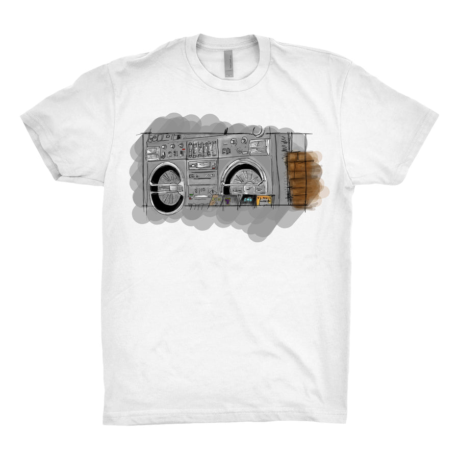 The Justice System - Boom Box Unisex Tee Shirt - Band Merch and On-Demand Designer Shirts