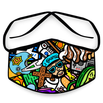 J. Pierce - Section B: Unisex Cloth Reusable Face Mask, Face Cover, Festival Cover | Arena