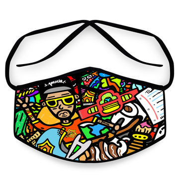 J. Pierce - Section C: Unisex Cloth Reusable Face Mask, Face Cover, Festival Cover | Arena