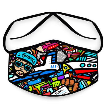 J. Pierce - Section E: Unisex Cloth Reusable Face Mask, Face Cover, Festival Cover | Arena