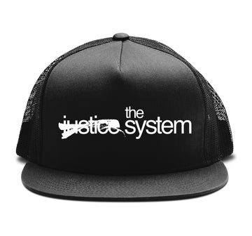 The Justice System - Trucker Snapback Hat - Band Merch and On-Demand Designer Shirts