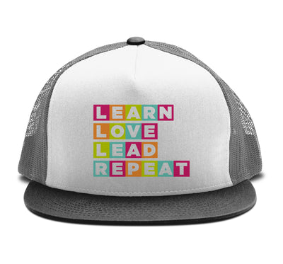 Learn Love Lead Black and Charcoal Trucker Hat