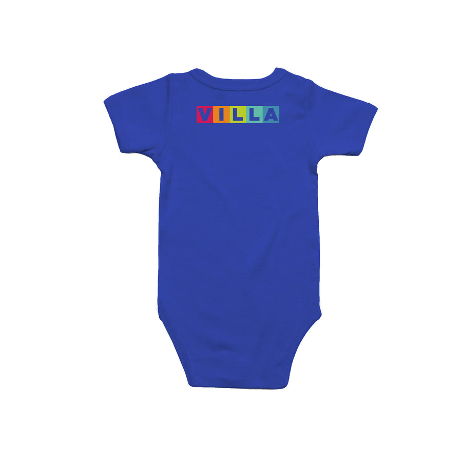 Learn Love Lead Blue Onesie Back