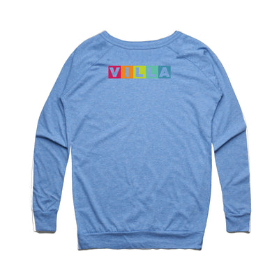 Learn Love Lead Blue Slouch Sweater Back