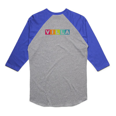 Villa Montessori -  Learn Love Lead Adult Unisex Raglan Tee Shirt