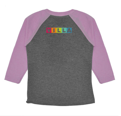 Villa Montessori -  Learn Love Lead Youth Raglan Tee Shirt