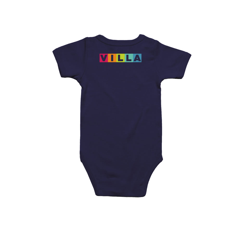 Learn Love Lead Navy Onesie Back