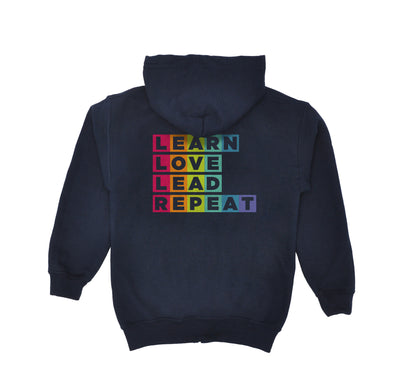 Villa Montessori -  Learn Love Lead Youth Zipper Hoodie