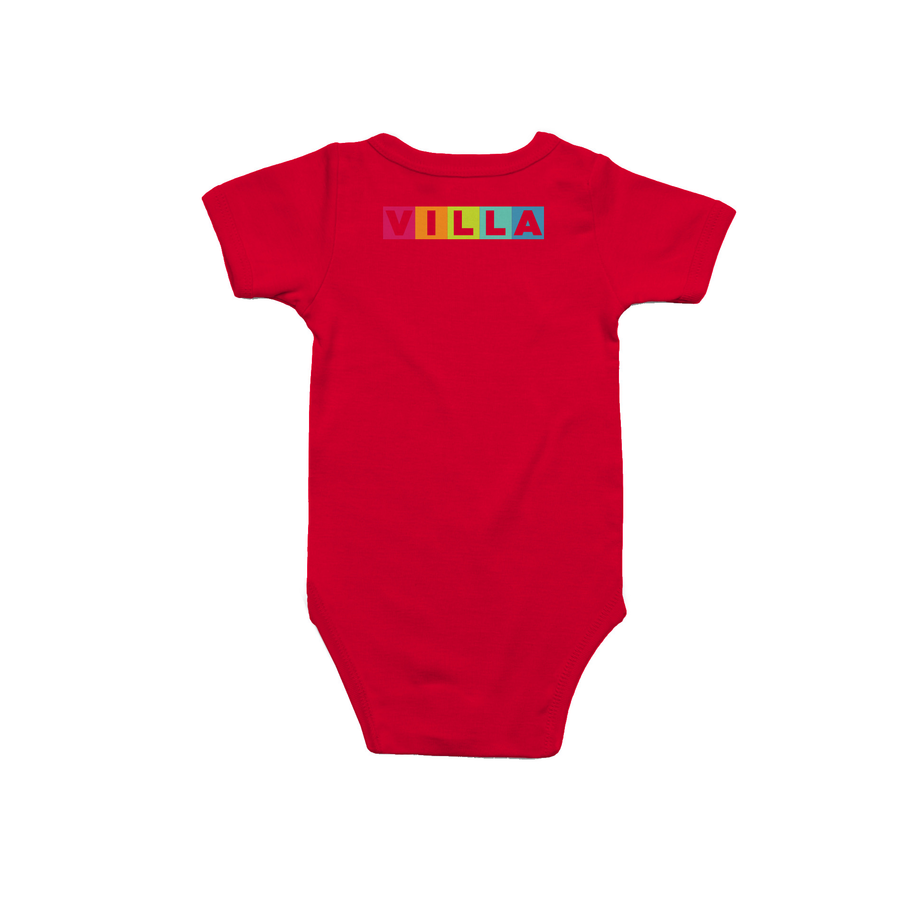 Learn Love Lead Red Onesie Back