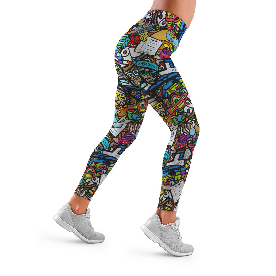 J. Pierce Collage:  All Over Print Leggings | Arena