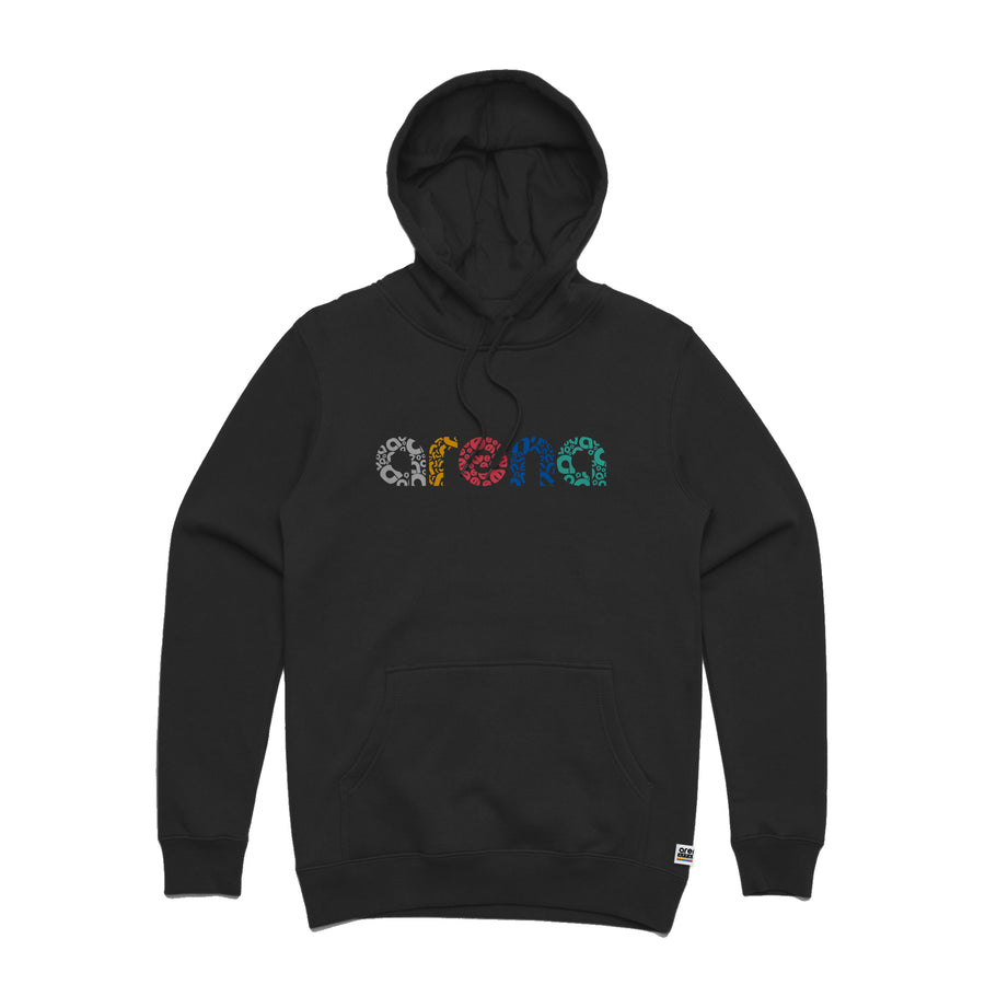 Letters - Unisex Mid-Weight Pullover Hoodie - Band Merch and On-Demand Designer Shirts