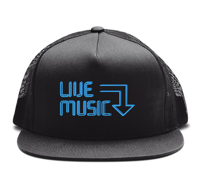 Live Music Snapback Hat Black