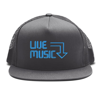 Live Music Snapback Hat Grey