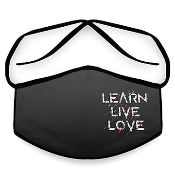 Live- Arena Tour Mask (Includes 1 PM2.5 Carbon Filter) Reversible Face Mask