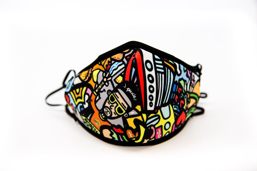 J. Pierce - Section A: Unisex Cloth Reusable Face Mask, Face Cover, Festival Cover | Arena