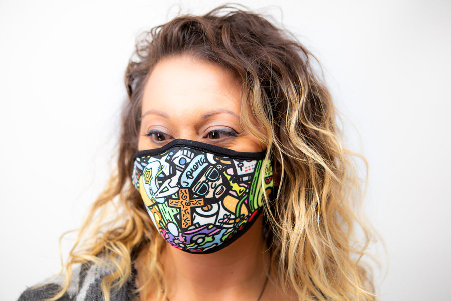 J. Pierce - Section D: Unisex Cloth Reusable Face Mask, Face Cover, Festival Cover | Arena