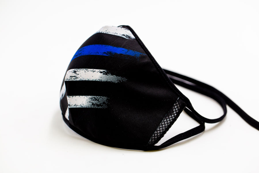 Blue Line - Reusable Cloth Face Mask, Face Cover, Festival Cover | Arena - Band Merch and On-Demand Designer Shirts