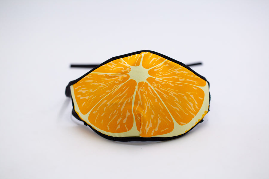 Orange- Arena Tour Mask (Includes 1 PM2.5 Carbon Filter) Reversible Face Mask