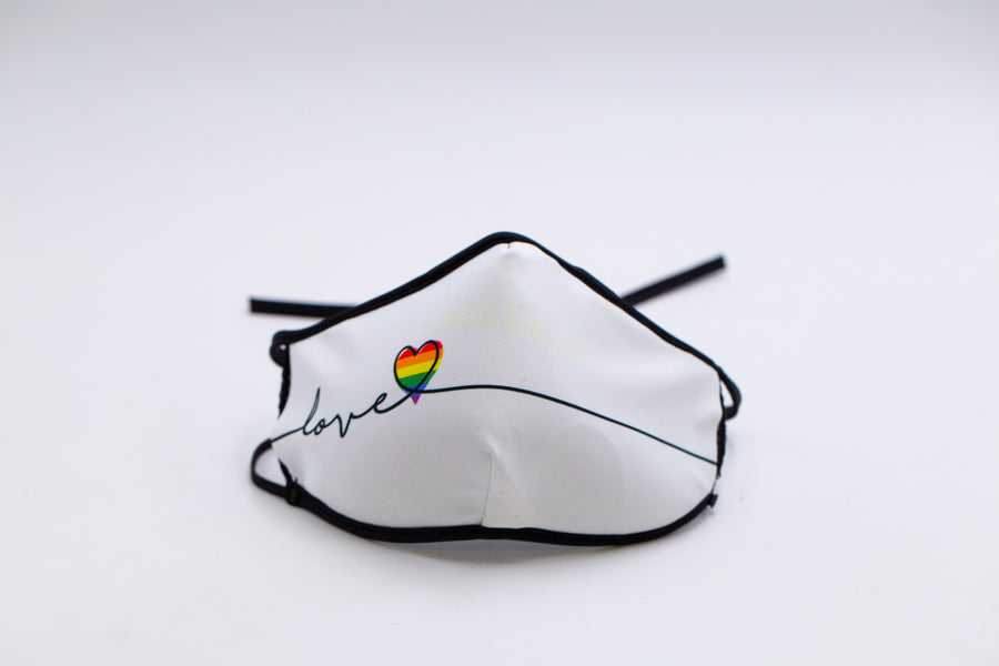 Pride- Arena Tour Mask (Includes 1 PM2.5 Carbon Filter) Reversible Face Mask