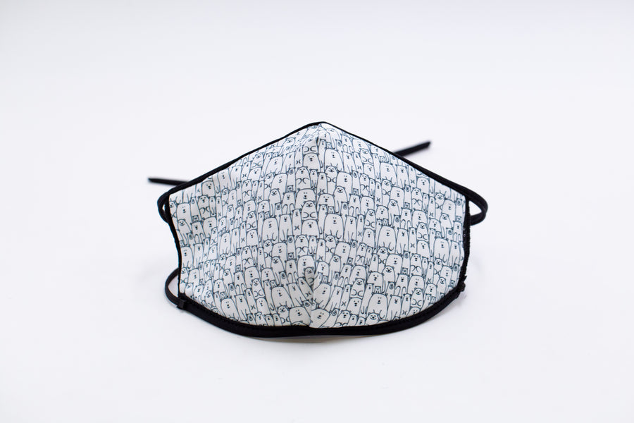 Polar Bears- Arena Tour Mask (Includes 1 PM2.5 Carbon Filter) Reversible Face Mask