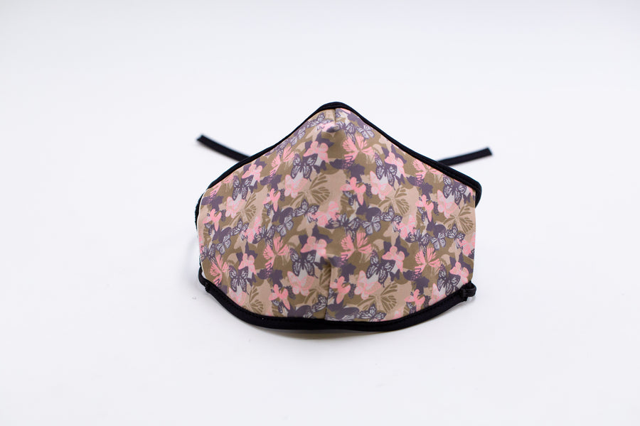 Butterfly Camouflage - Reusable Cloth Face Mask, Festival Cover | Arena - Band Merch and On-Demand Designer Shirts