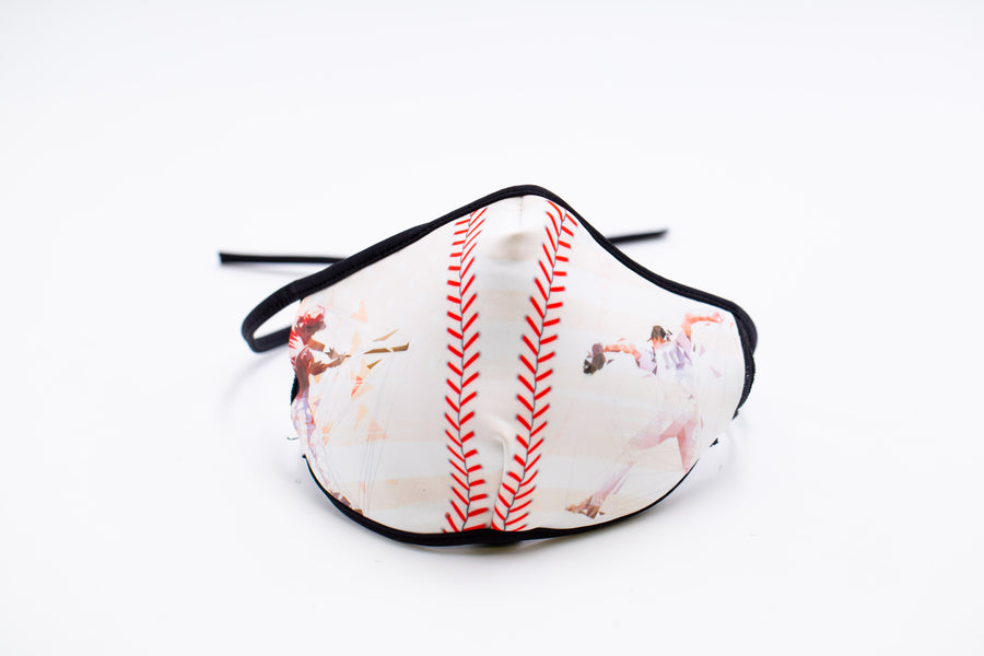 Baseball- Arena Tour Mask (Includes 1 PM2.5 Carbon Filter) Reversible Face Mask