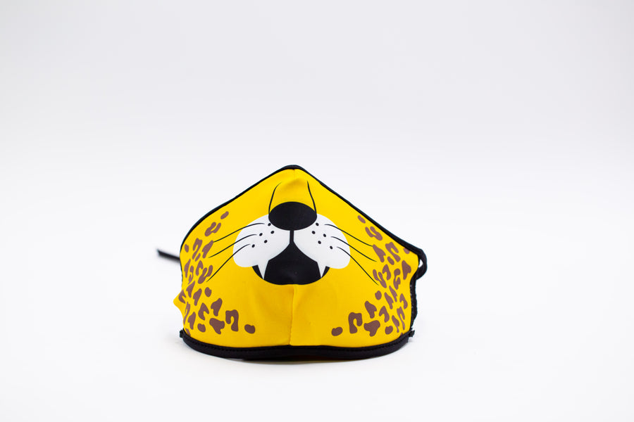 Cheetah- Arena Tour Mask (Includes 1 PM2.5 Carbon Filter) Reversible Face Mask