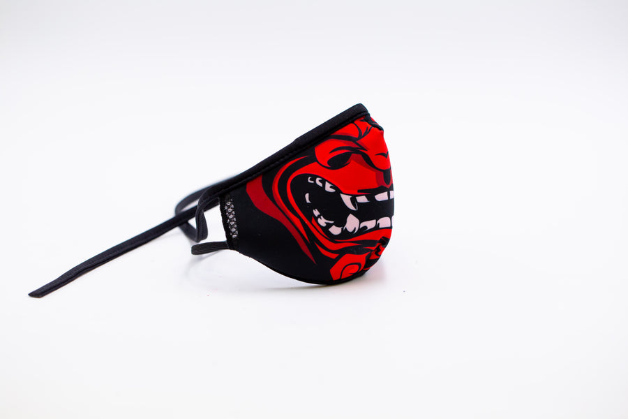 Red Samurai- Reusable Face Mask, Face Cover, Festival Cover | Arena