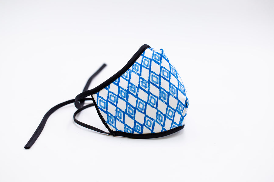 Blue Diamond- Arena Tour Mask (Includes 1 PM2.5 Carbon Filter) Reversible Face Mask