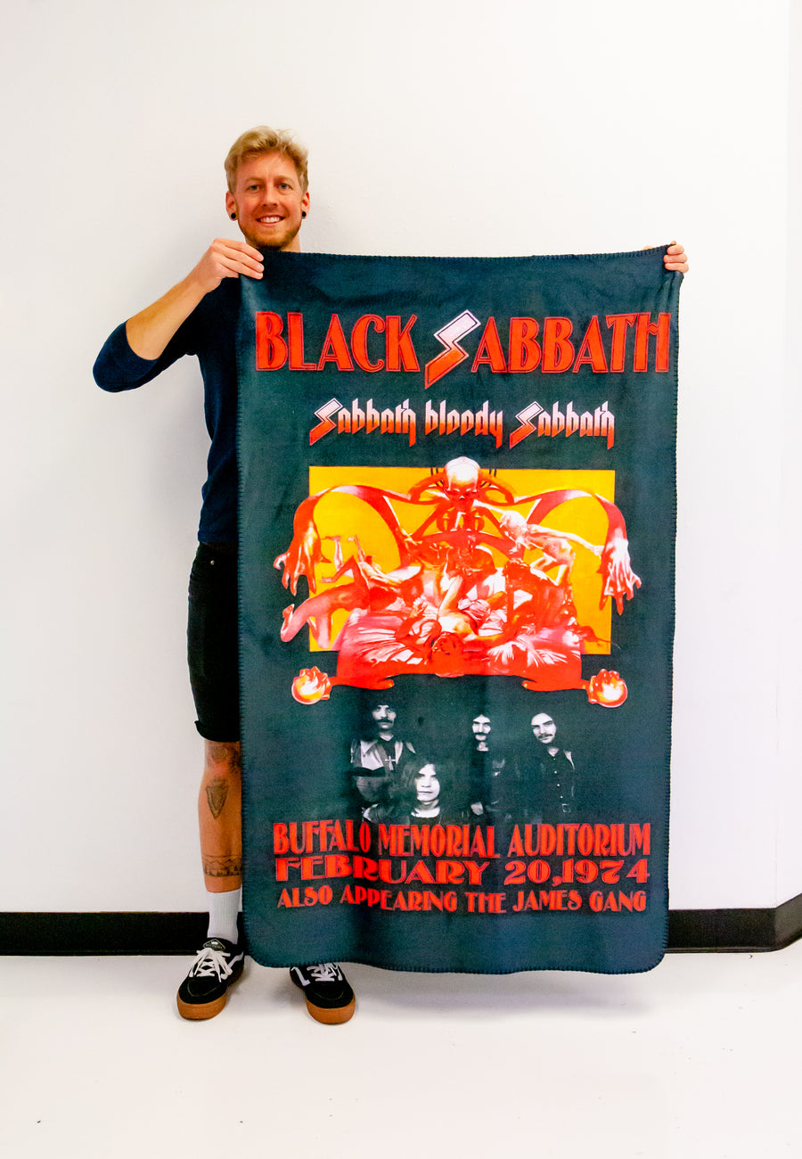 Black Sabbath Tour Poster Band Blanket | Arena